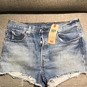 Levi's 501 cutoff shorts New 32 perfect high waist